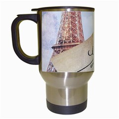 French Postcard Vintage Paris Eiffel Tower Travel Mug (White)