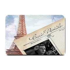 French Postcard Vintage Paris Eiffel Tower Small Door Mat