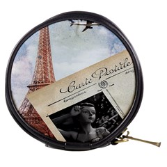 French Postcard Vintage Paris Eiffel Tower Mini Makeup Case