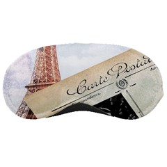 French Postcard Vintage Paris Eiffel Tower Sleeping Mask