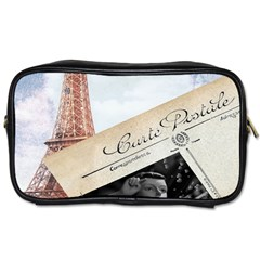 French Postcard Vintage Paris Eiffel Tower Travel Toiletry Bag (two Sides)