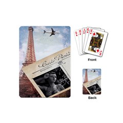 French Postcard Vintage Paris Eiffel Tower Playing Cards (Mini)