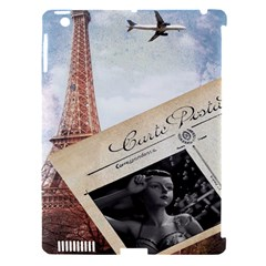 French Postcard Vintage Paris Eiffel Tower Apple iPad 3/4 Hardshell Case (Compatible with Smart Cover)