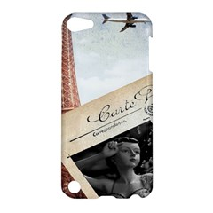 French Postcard Vintage Paris Eiffel Tower Apple iPod Touch 5 Hardshell Case
