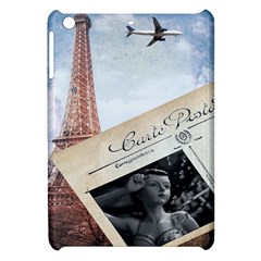 French Postcard Vintage Paris Eiffel Tower Apple iPad Mini Hardshell Case