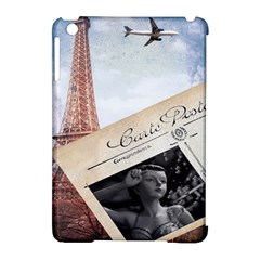 French Postcard Vintage Paris Eiffel Tower Apple iPad Mini Hardshell Case (Compatible with Smart Cover)