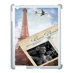 French Postcard Vintage Paris Eiffel Tower Apple iPad 3/4 Case (White)