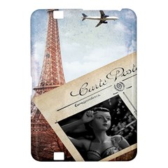 French Postcard Vintage Paris Eiffel Tower Kindle Fire HD 8.9  Hardshell Case