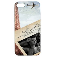 French Postcard Vintage Paris Eiffel Tower Apple iPhone 5 Hardshell Case with Stand