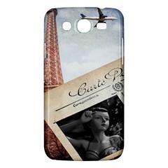 French Postcard Vintage Paris Eiffel Tower Samsung Galaxy Mega 5 8 I9152 Hardshell Case