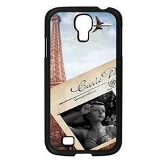 French Postcard Vintage Paris Eiffel Tower Samsung GALAXY S4 I9500/ I9505 (Black)