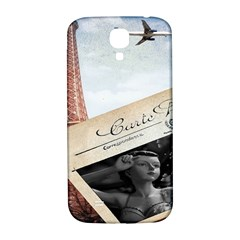 French Postcard Vintage Paris Eiffel Tower Samsung Galaxy S4 I9500/i9505  Hardshell Back Case