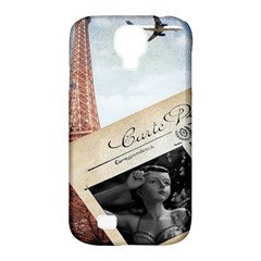 French Postcard Vintage Paris Eiffel Tower Samsung Galaxy S4 Classic Hardshell Case (PC+Silicone)