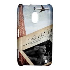 French Postcard Vintage Paris Eiffel Tower Nokia Lumia 620 Hardshell Case