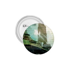 Modern Shopaholic Girl  Paris Eiffel Tower Art  1 75  Button