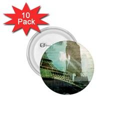 Modern Shopaholic Girl  Paris Eiffel Tower Art  1 75  Button (10 Pack)