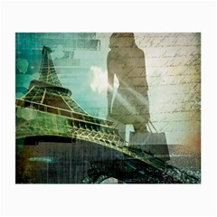 Modern Shopaholic Girl  Paris Eiffel Tower Art  Glasses Cloth (small)