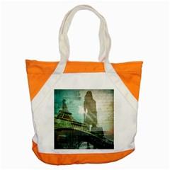 Modern Shopaholic Girl  Paris Eiffel Tower Art  Accent Tote Bag