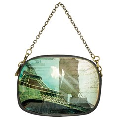 Modern Shopaholic Girl  Paris Eiffel Tower Art  Chain Purse (One Side)