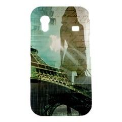 Modern Shopaholic Girl  Paris Eiffel Tower Art  Samsung Galaxy Ace S5830 Hardshell Case