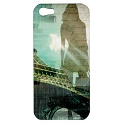 Modern Shopaholic Girl  Paris Eiffel Tower Art  Apple Iphone 5 Hardshell Case