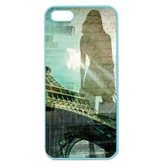 Modern Shopaholic Girl  Paris Eiffel Tower Art  Apple Seamless iPhone 5 Case (Color)