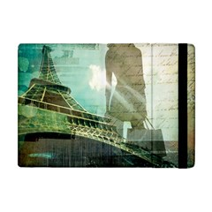 Modern Shopaholic Girl  Paris Eiffel Tower Art  Apple Ipad Mini Flip Case