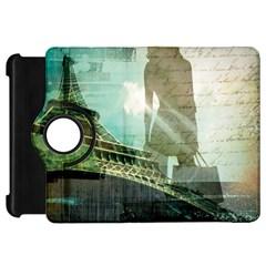 Modern Shopaholic Girl  Paris Eiffel Tower Art  Kindle Fire HD 7  Flip 360 Case