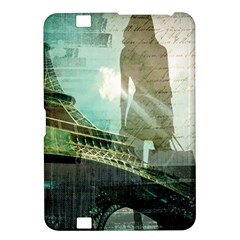 Modern Shopaholic Girl  Paris Eiffel Tower Art  Kindle Fire HD 8.9  Hardshell Case