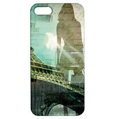 Modern Shopaholic Girl  Paris Eiffel Tower Art  Apple iPhone 5 Hardshell Case with Stand
