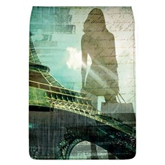 Modern Shopaholic Girl  Paris Eiffel Tower Art  Removable Flap Cover (large)