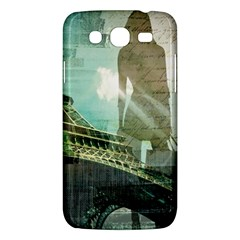 Modern Shopaholic Girl  Paris Eiffel Tower Art  Samsung Galaxy Mega 5.8 I9152 Hardshell Case