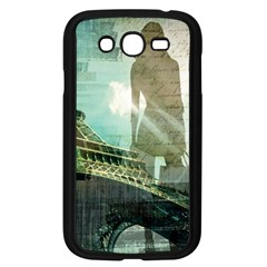 Modern Shopaholic Girl  Paris Eiffel Tower Art  Samsung I9082(galaxy Grand Duos)(black)