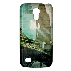 Modern Shopaholic Girl  Paris Eiffel Tower Art  Samsung Galaxy S4 Mini Hardshell Case