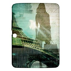 Modern Shopaholic Girl  Paris Eiffel Tower Art  Samsung Galaxy Tab 3 (10 1 ) P5200 Hardshell Case