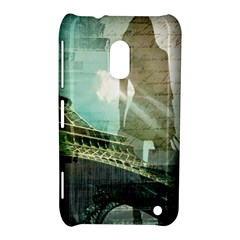 Modern Shopaholic Girl  Paris Eiffel Tower Art  Nokia Lumia 620 Hardshell Case