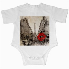 Elegant Red Kiss Love Paris Eiffel Tower Infant Creeper