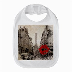 Elegant Red Kiss Love Paris Eiffel Tower Bib