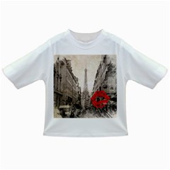 Elegant Red Kiss Love Paris Eiffel Tower Baby T-shirt