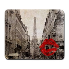 Elegant Red Kiss Love Paris Eiffel Tower Large Mouse Pad (Rectangle)