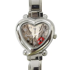 Elegant Red Kiss Love Paris Eiffel Tower Heart Italian Charm Watch