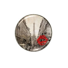 Elegant Red Kiss Love Paris Eiffel Tower Golf Ball Marker 4 Pack (for Hat Clip)