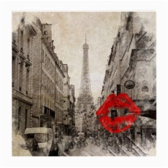 Elegant Red Kiss Love Paris Eiffel Tower Glasses Cloth (medium)