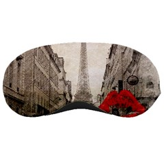 Elegant Red Kiss Love Paris Eiffel Tower Sleeping Mask