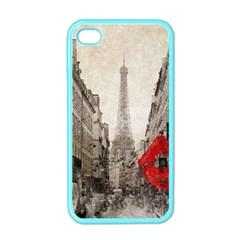 Elegant Red Kiss Love Paris Eiffel Tower Apple iPhone 4 Case (Color)