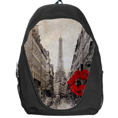 Elegant Red Kiss Love Paris Eiffel Tower Backpack Bag