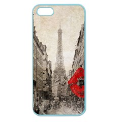 Elegant Red Kiss Love Paris Eiffel Tower Apple Seamless iPhone 5 Case (Color)