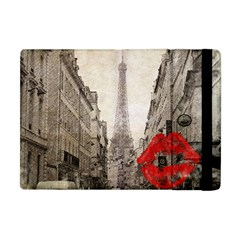 Elegant Red Kiss Love Paris Eiffel Tower Apple Ipad Mini Flip Case