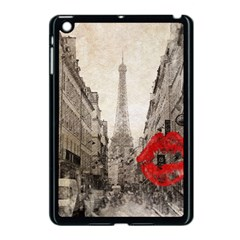 Elegant Red Kiss Love Paris Eiffel Tower Apple Ipad Mini Case (black)