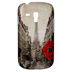 Elegant Red Kiss Love Paris Eiffel Tower Samsung Galaxy S3 Mini I8190 Hardshell Case